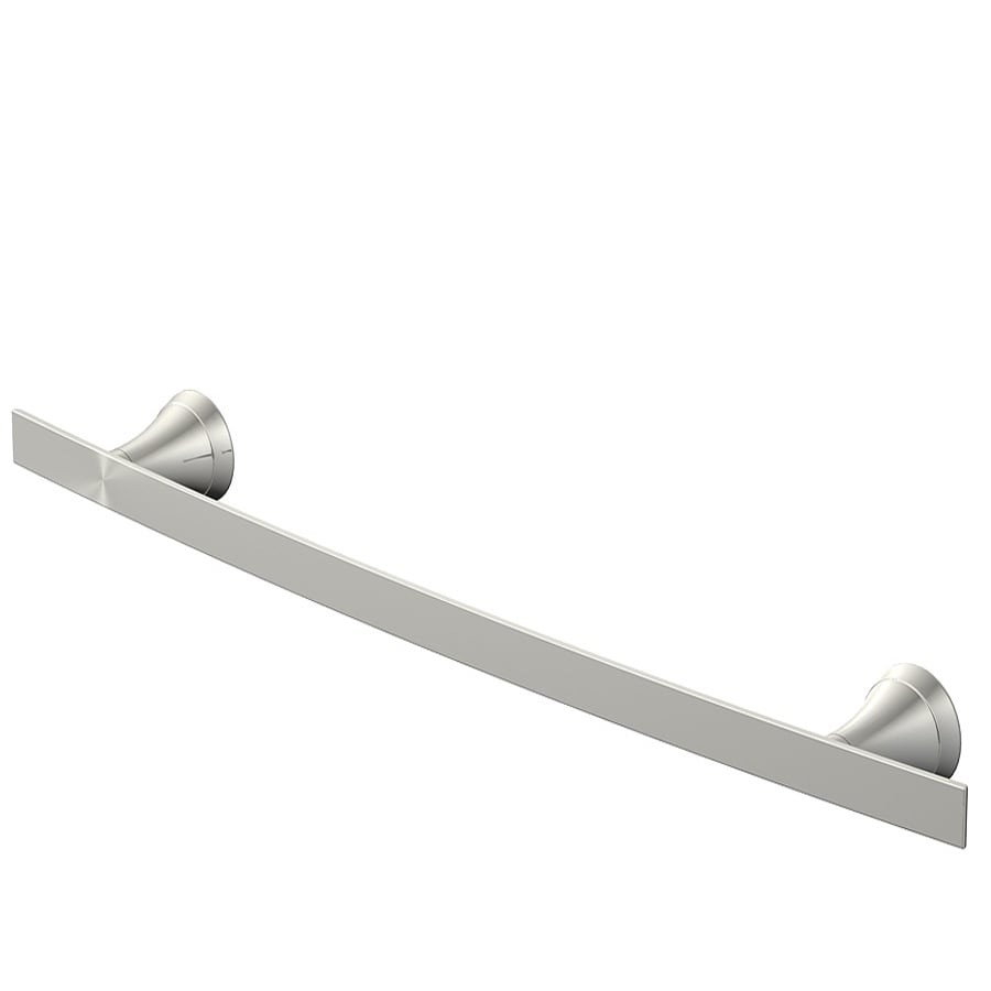 shop jacuzzi lyndsay brushed nickel single towel bar (common: 18
