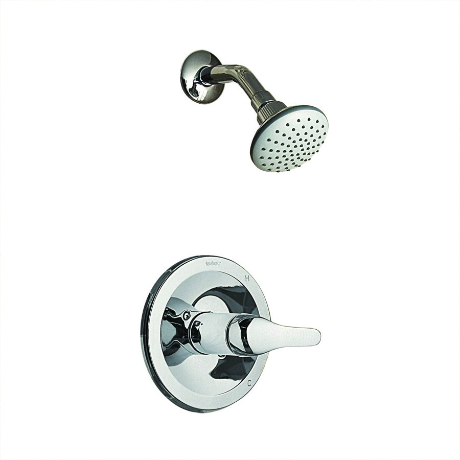 Aquasource Chrome 1 Handle Shower Faucet With Single