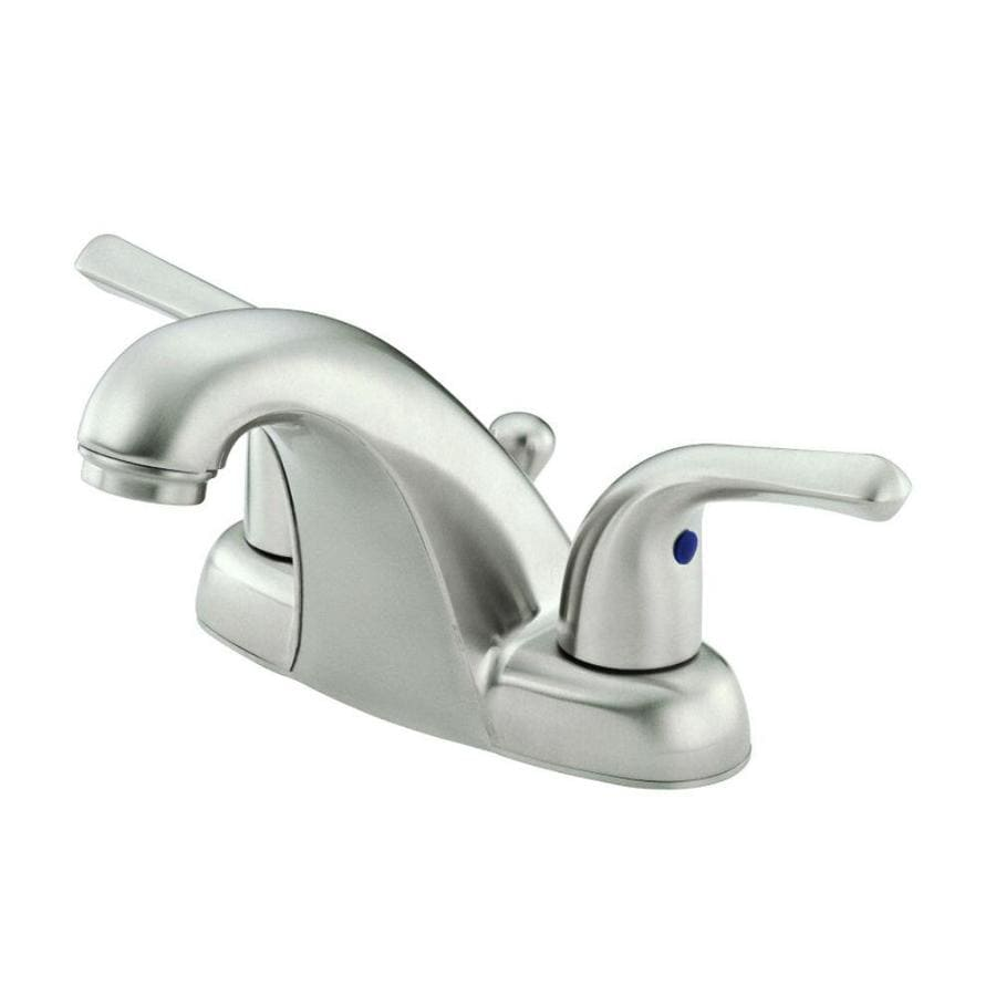 Shop danze melrose brushed nickel 2 handle 4 in centerset bathroom sink faucet at for Danze bathroom faucets reviews