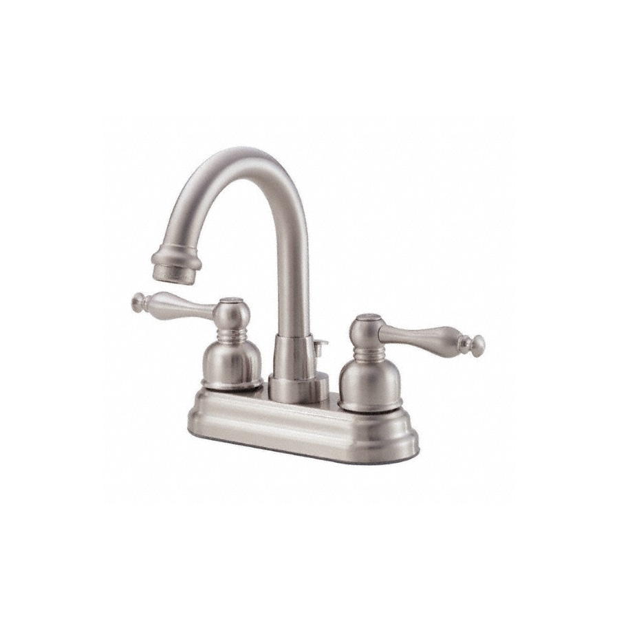 Danze Sheridan Brushed Nickel 2-Handle 4-in Centerset WaterSense Bathroom Faucet Drain Included