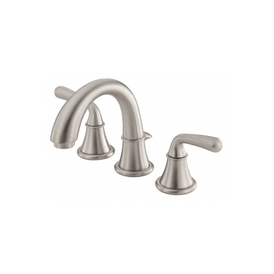 Danze Bannockburn Brushed Nickel 2-Handle 4-in Mini Widespread WaterSense Bathroom Faucet (Drain Included)