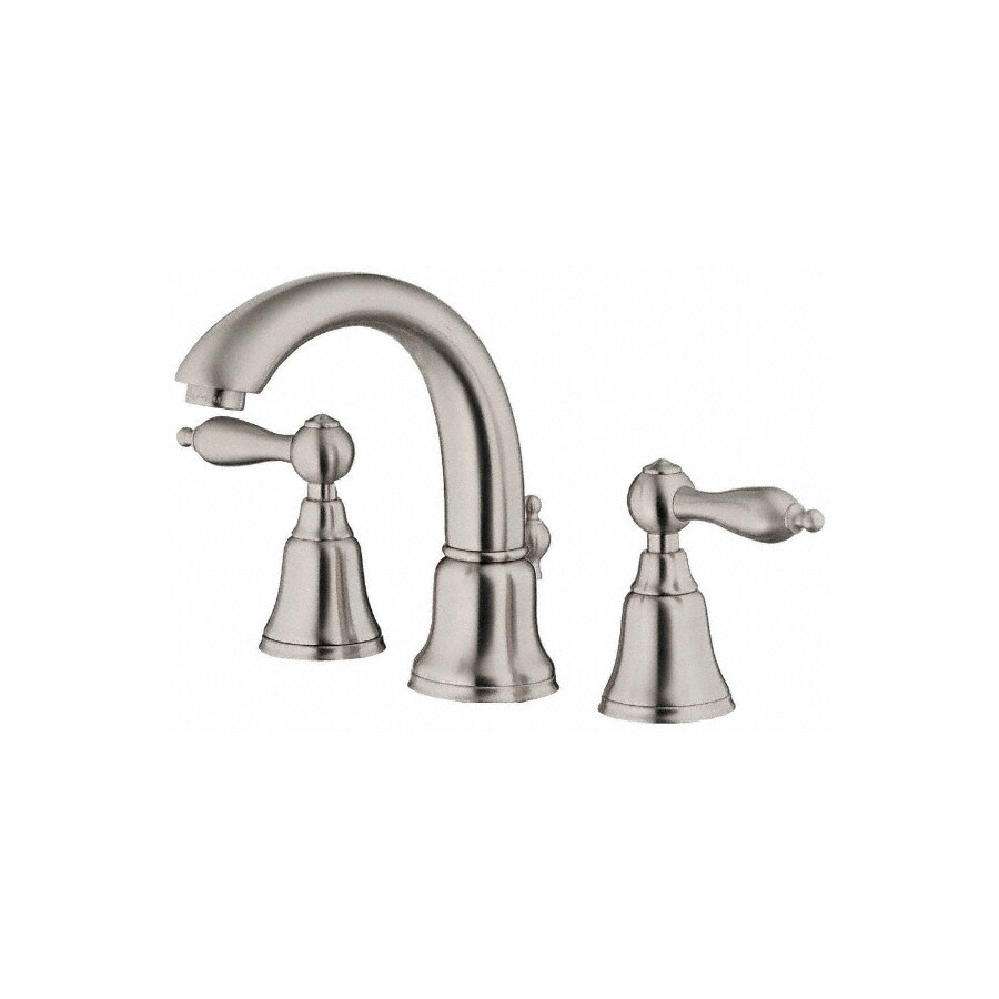 Danze Fairmont Brushed Nickel 2-Handle Widespread WaterSense Bathroom Faucet (Drain Included)