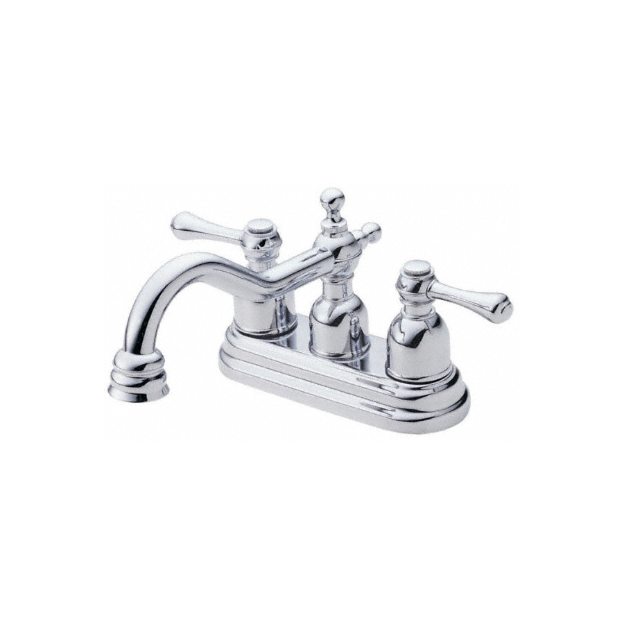 Danze Opulence Chrome 2-Handle 4-in Centerset WaterSense Bathroom Sink Faucet (Drain Included)