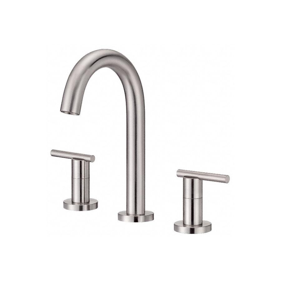 Danze Parma Brushed Nickel 2-Handle Widespread WaterSense Bathroom Faucet (Drain Included)