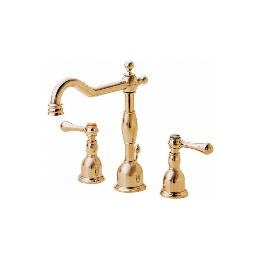 Danze Opulence Polished Brass 2-Handle Widespread WaterSense Bathroom Faucet (Drain Included)