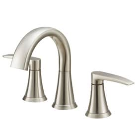 Jacuzzi Lyndsay Brushed Nickel 2-Handle Widespread WaterSense Bathroom Sink Faucet with Drain