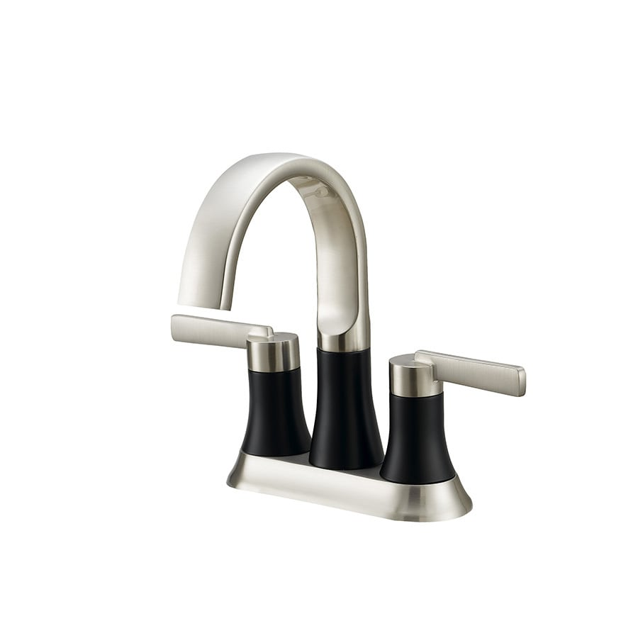 Jacuzzi BECKAM Brushed Nickel 2-Handle 4-in Centerset WaterSense Bathroom Faucet (Drain Included)