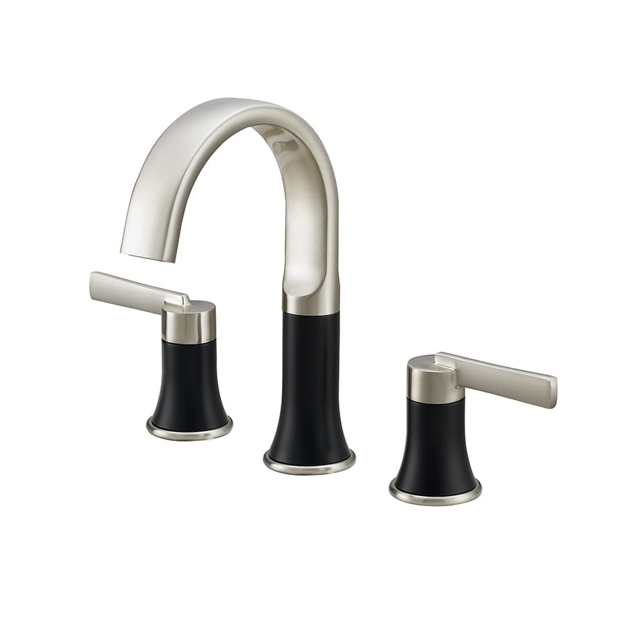 Jacuzzi BECKAM Brushed Nickel 2-Handle Widespread WaterSense Bathroom Faucet (Drain Included)