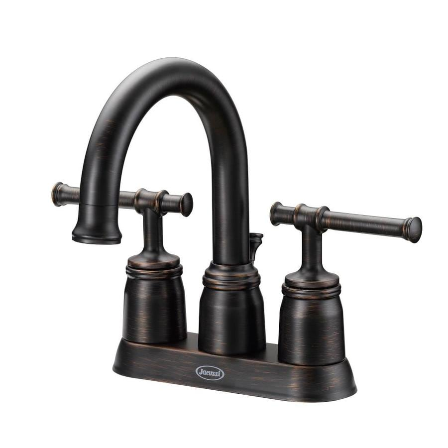 Jacuzzi Vallymede Oil-Rubbed Bronze 2-handle 4-in Centerset Bathroom Faucet