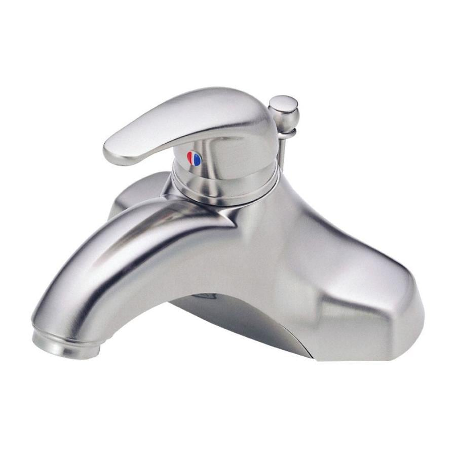 Danze Melrose Brushed Nickel 1-Handle 4-in Centerset WaterSense Bathroom Faucet (Drain Included)
