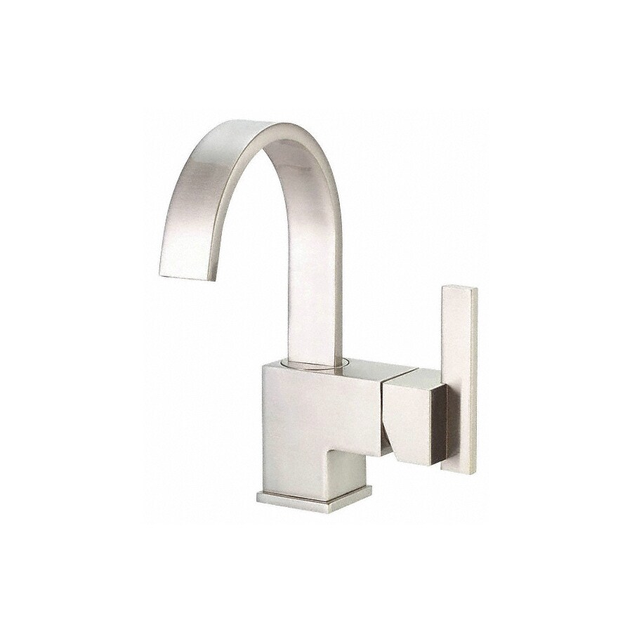 Danze Sirius Brushed Nickel 1-Handle Single Hole WaterSense Bathroom Faucet (Drain Included)