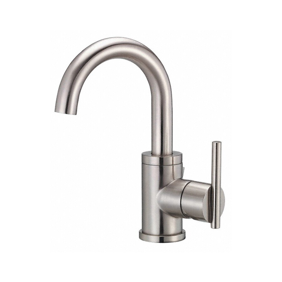 Danze Parma Brushed Nickel 1-Handle Single Hole WaterSense Bathroom Faucet (Drain Included)