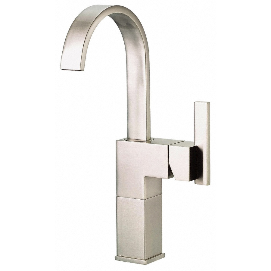 sirius brushed nickel 1 handle single hole watersense bathroom faucet