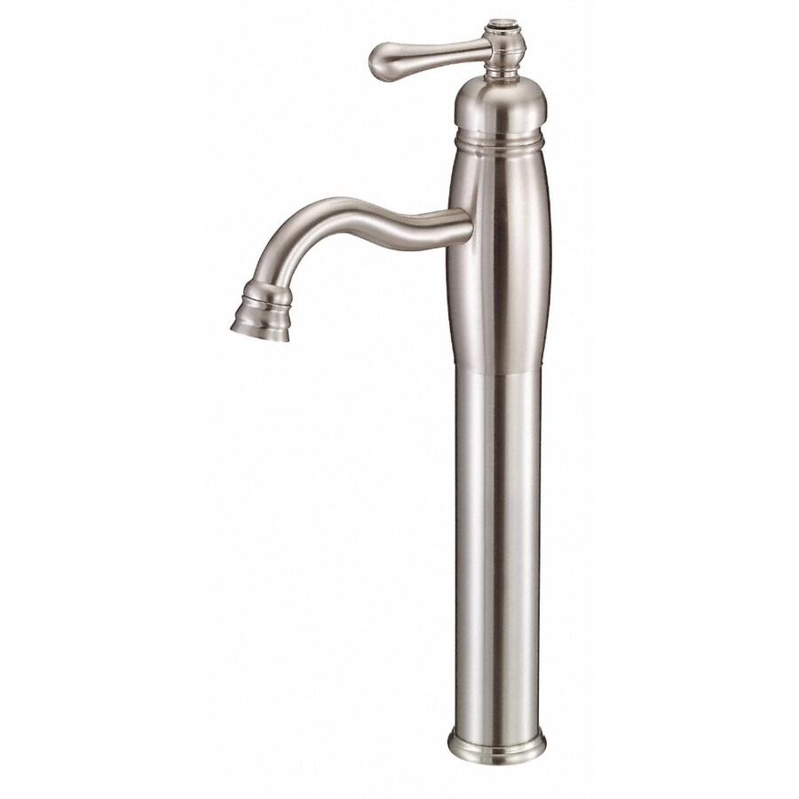 Danze Opulence Brushed Nickel 1-Handle Single Hole WaterSense Bathroom Faucet (Drain Included)