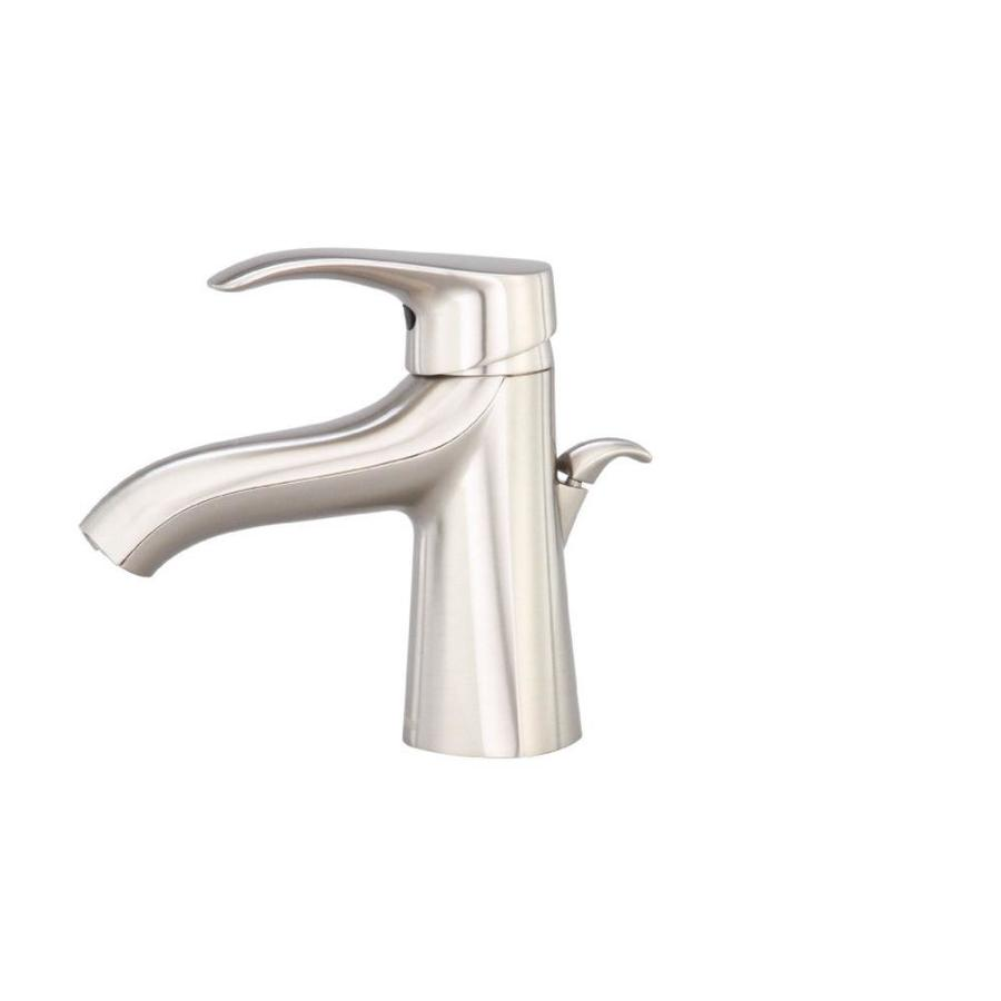Corsair Brushed Nickel 1-Handle Single Hole WaterSense Bathroom Faucet ...