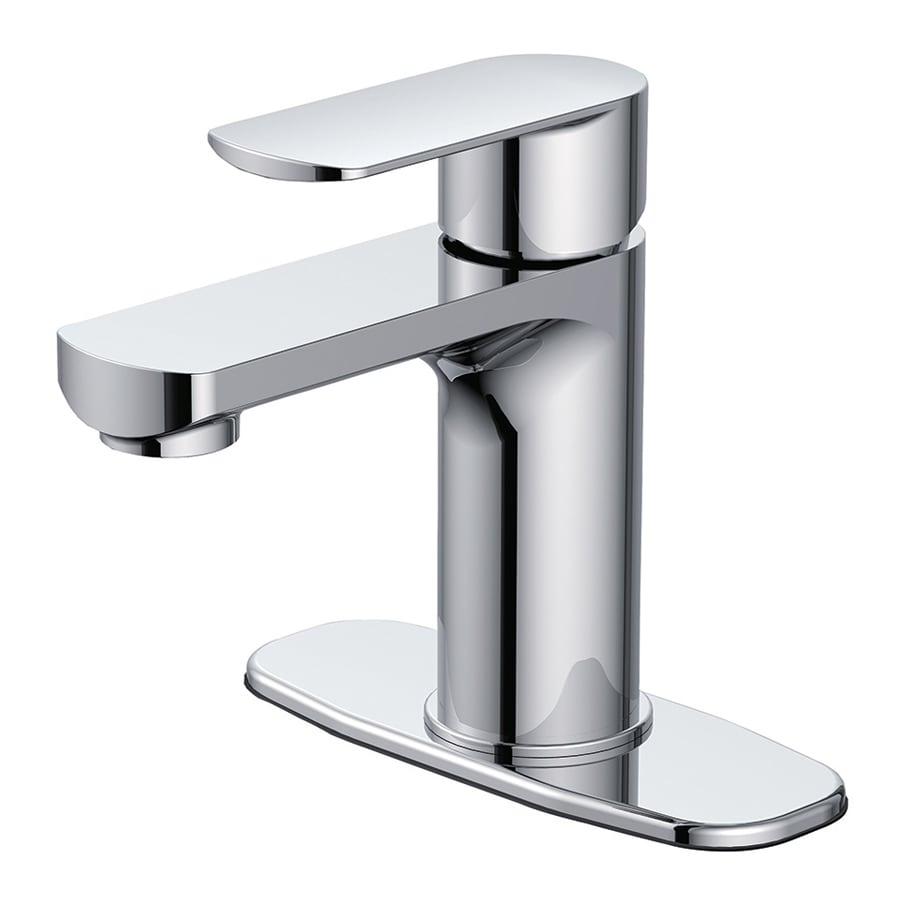 Shop Jacuzzi Primo Chrome 1 Handle Single Hole 4 In Centerset Bathroom Faucet At