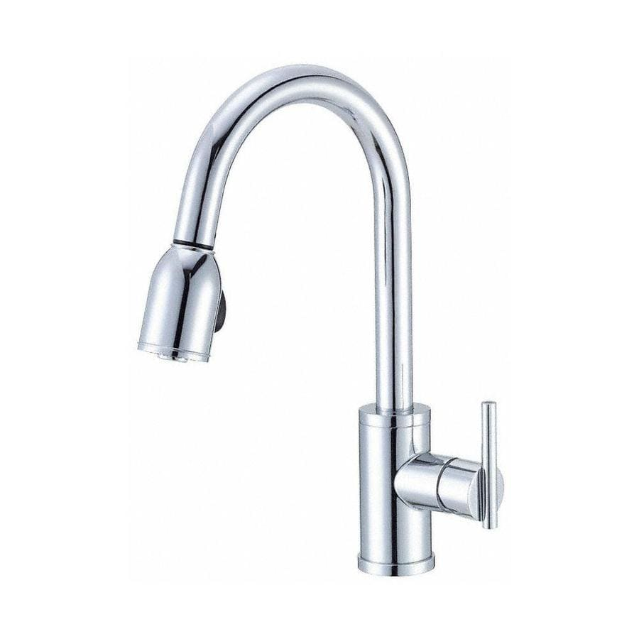 danze pull down kitchen faucet shop danze parma chrome 1 handle deck mount pull 23445