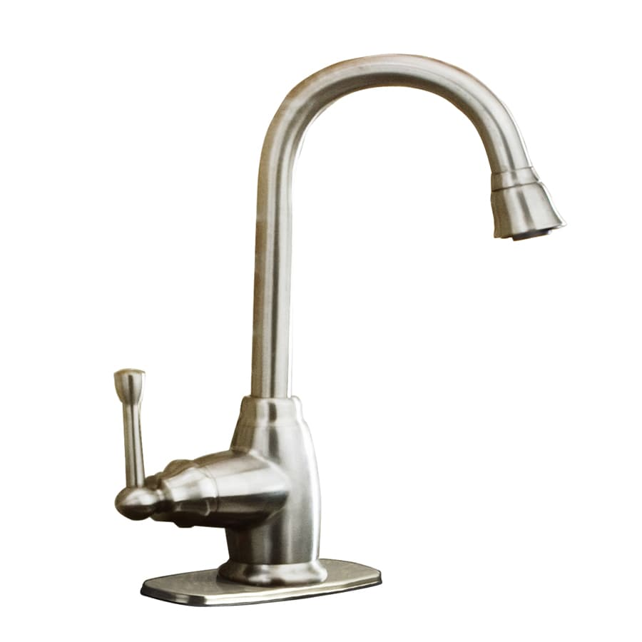 Lowes Aquasource Kitchen Faucet >> Shop AquaSource Brushed Nickel 1-Handle Kitchen Faucet at Lowes.com