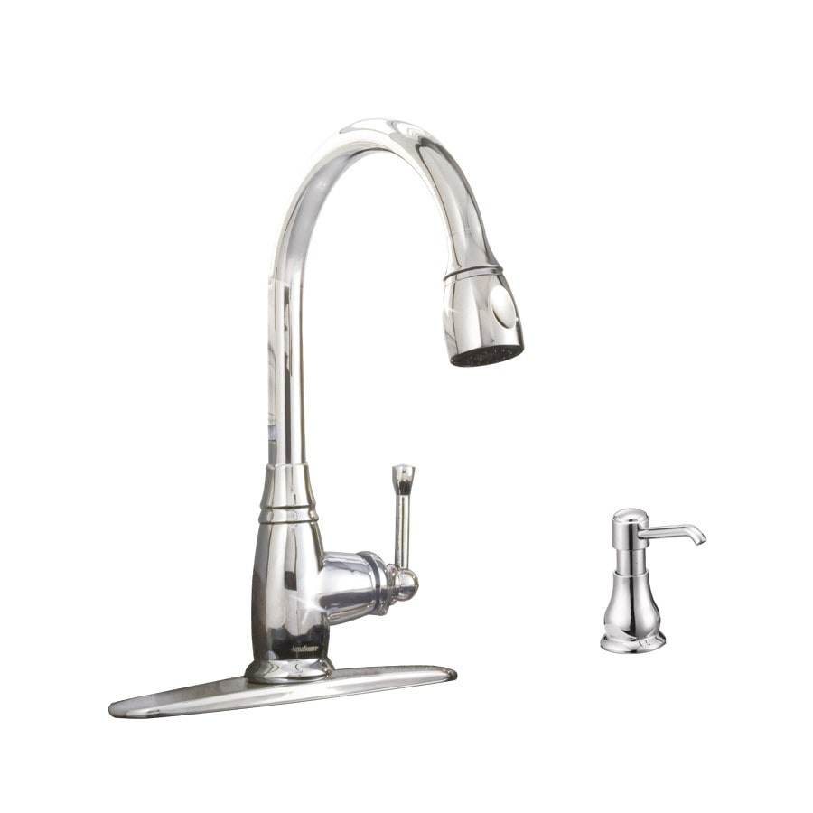 Aquasource Kitchen Faucet: AquaSource Chrome 1-handle Pull-down Deck Mount Kitchen