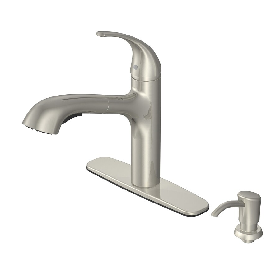 Shop Aquasource Brushed Nickel 1 Handle Pull Out Deck