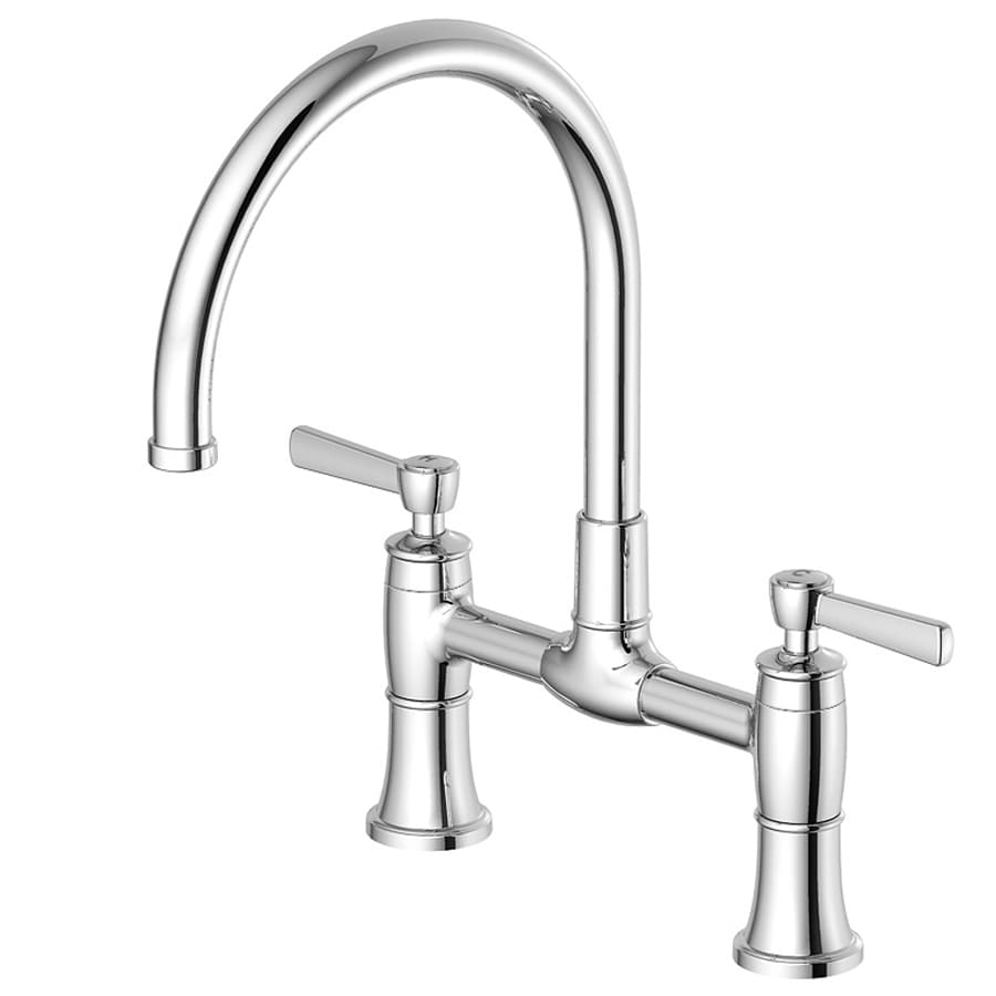 shop aquasource chrome 2 handle high arc kitchen faucet at 87854