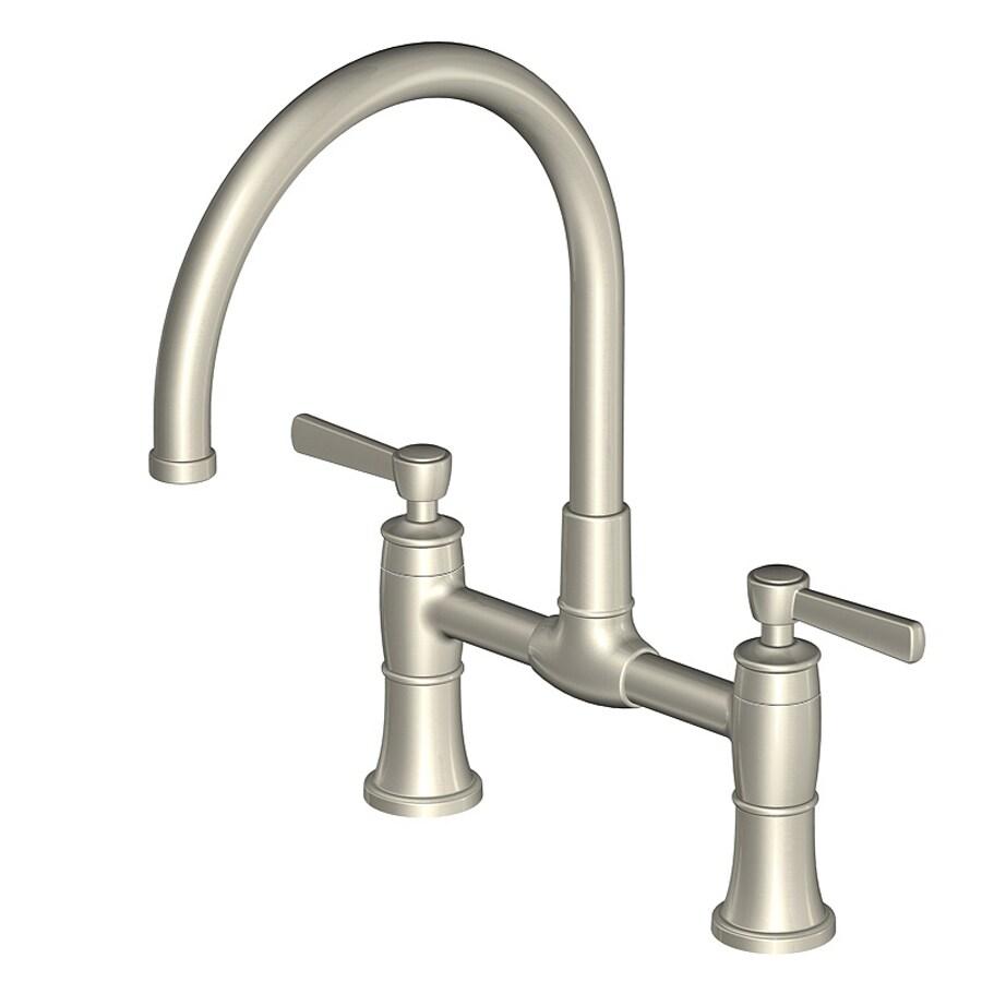 Aquasource Kitchen Faucet Shop Aquasource Brushed Nickel 2 Handle High Arc Kitchen Faucet At