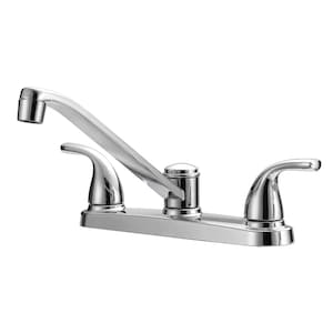 Project Source Chrome 2-Handle Deck Mount Low-Arc Residential Kitchen  Faucet at Lowes.com