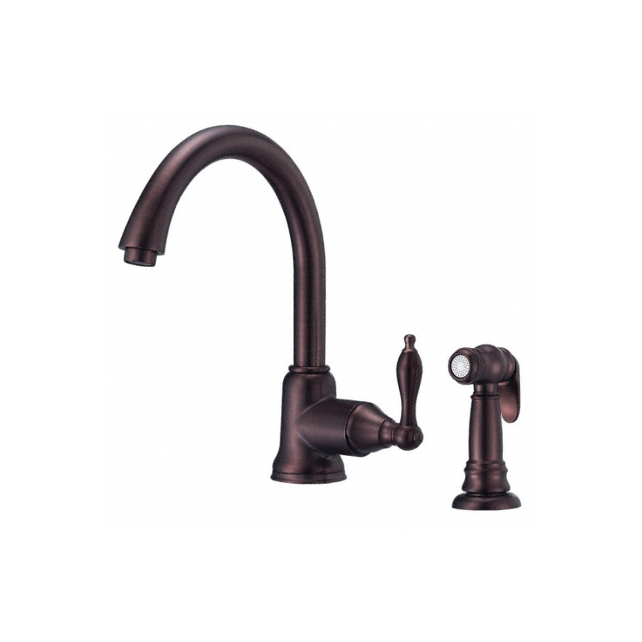 Shop Danze Fairmont Oil Rubbed Bronze 1 Handle High Arc Kitchen Faucet With Side Spray At
