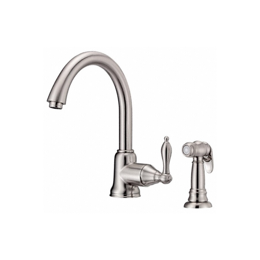 Danze Fairmont Stainless Steel 1-Handle Deck Mount High-Arc Kitchen Faucet