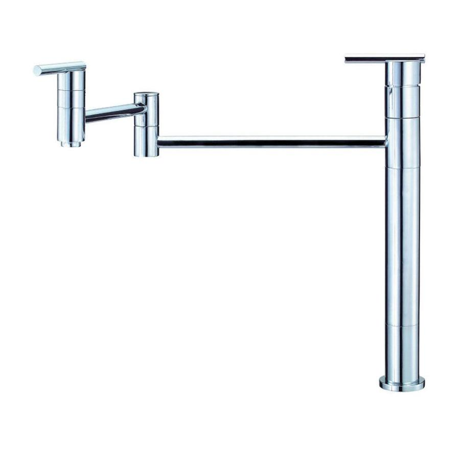 Shop Danze Parma Chrome 2-handle Deck Mount Pot Filler Kitchen ...