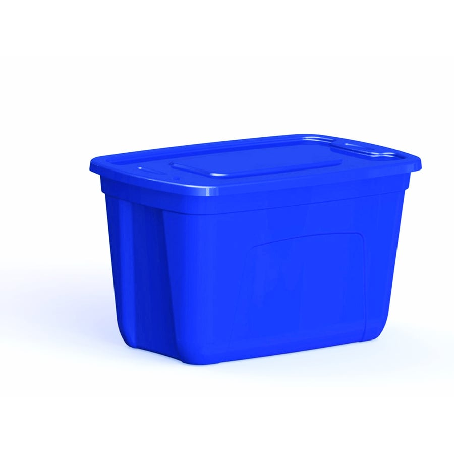 Style Selections 18-Gallon Blue Tote with Standard Snap Lid