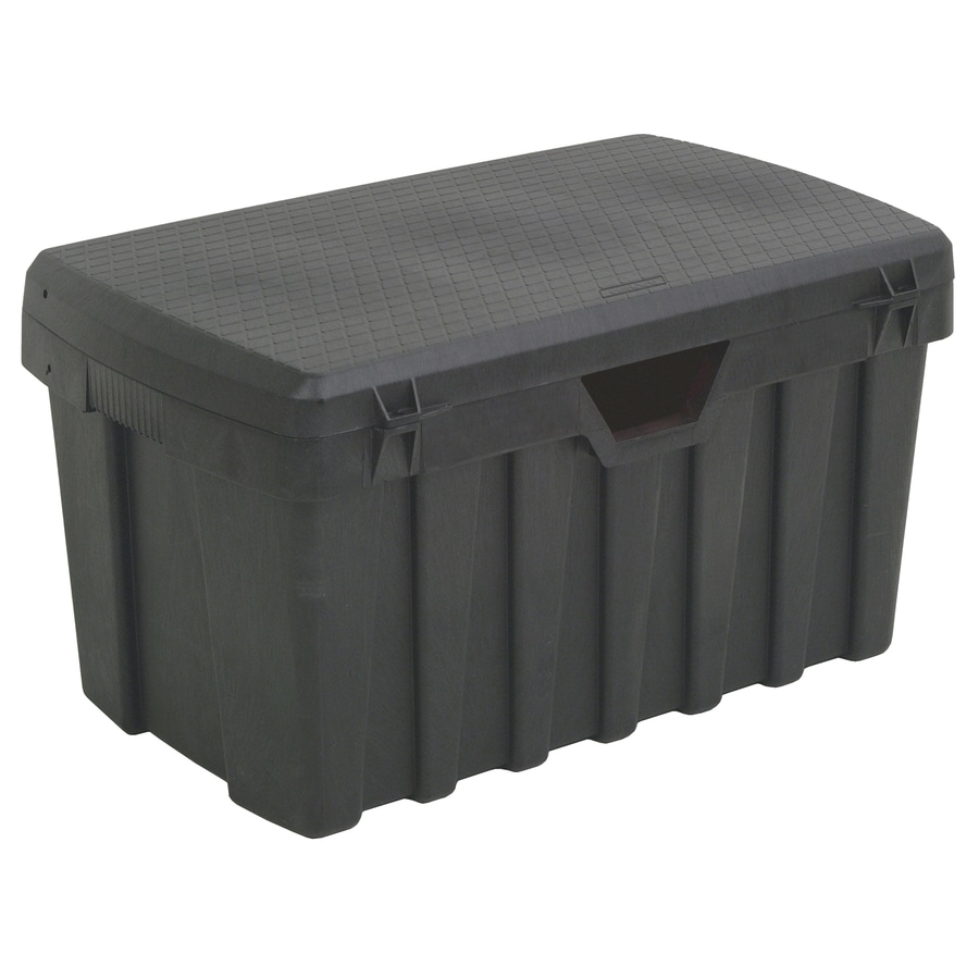 Shop Contico 53 Gallon Black Plastic Storage Trunk At
