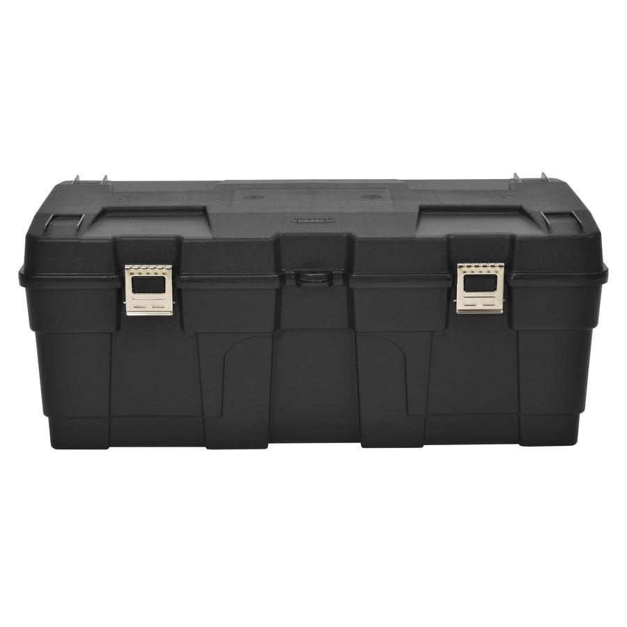 Contico 23 Gallon Black Plastic Storage Trunk