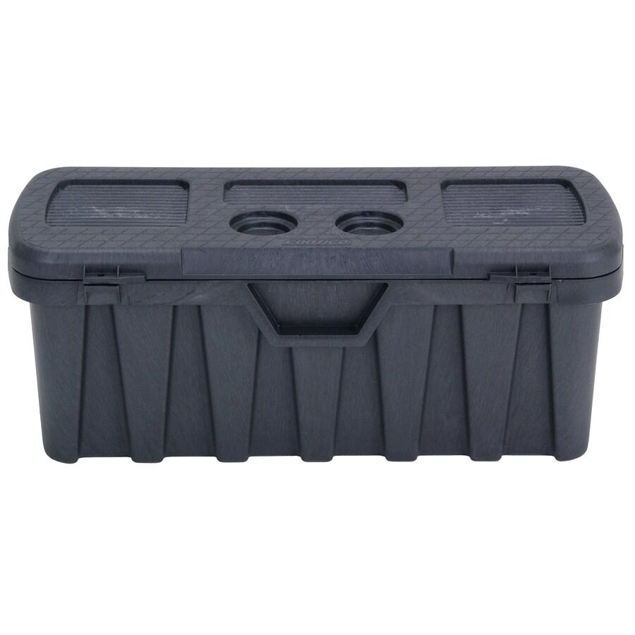 CONTICO 20-Gallon Black Plastic Storage Trunk