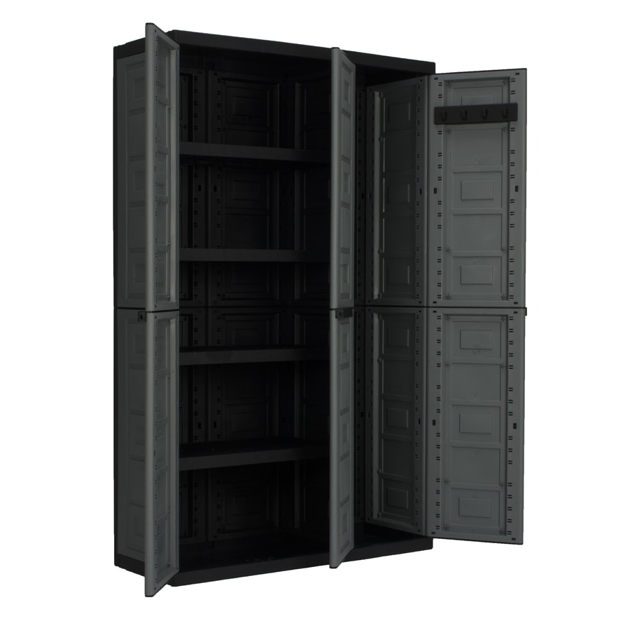 Resin Utility Cabinet Shop Garage Cabinets Storage Systems At Lowescom