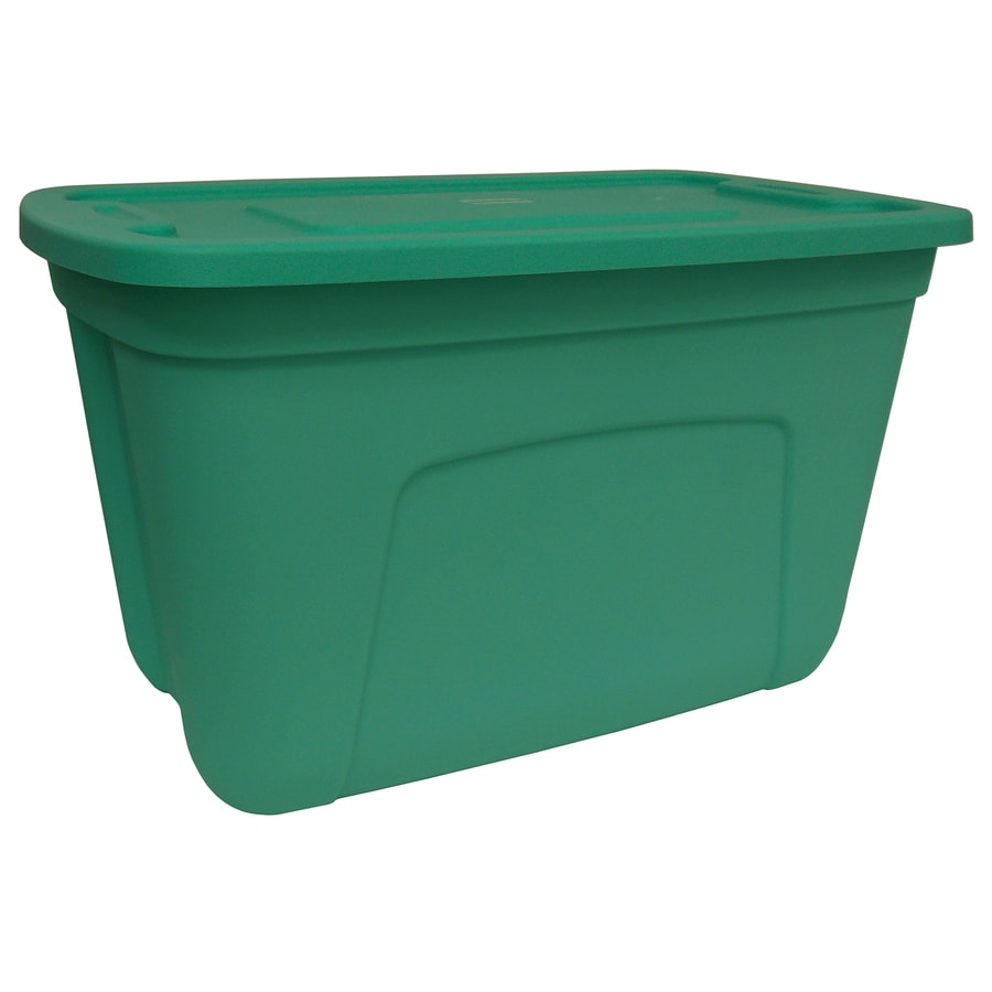 Style Selections Teal 30-Gallon Green Tote with Standard Snap Lid