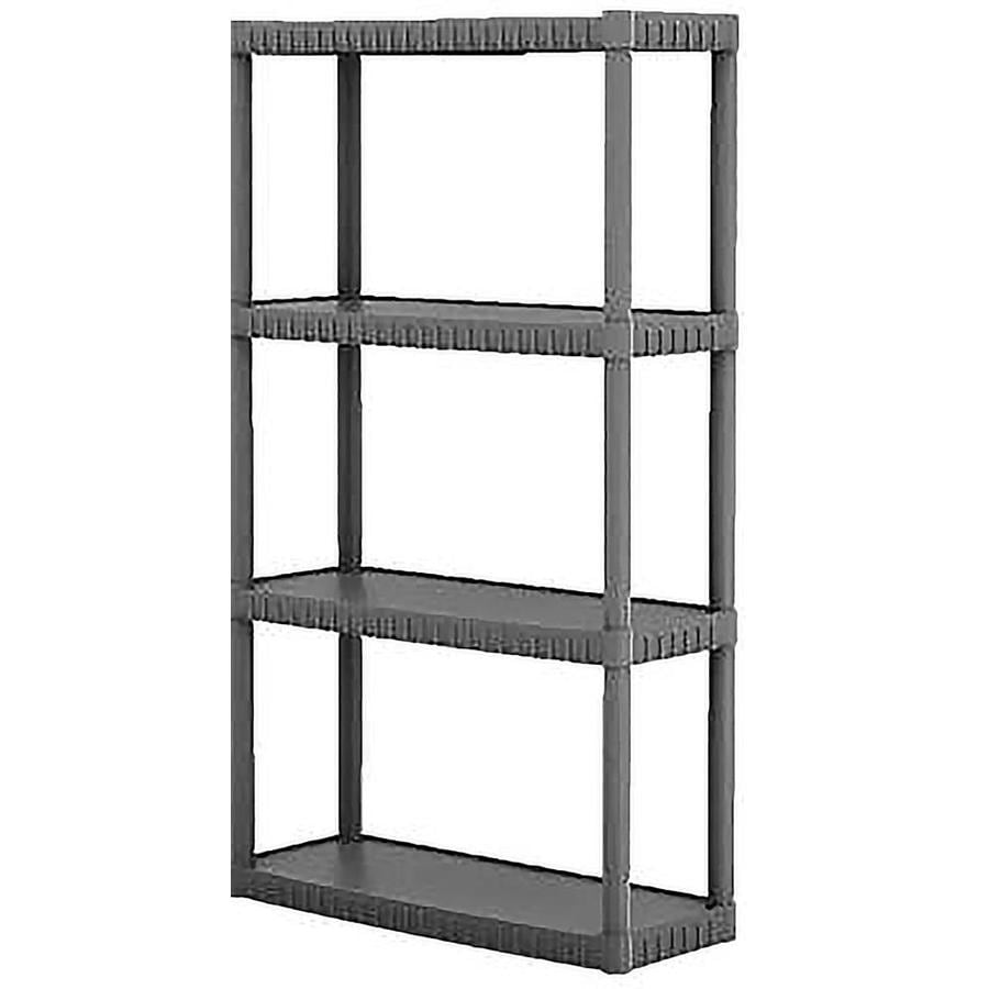 shelving units lowes shop blue hawk 52 62 in h x 34 75 in w x 14 63 in d 4 tier 26054