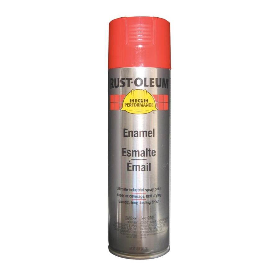 Shop Rust Oleum High Performance Safety Red Enamel Spray Paint Actual Net Contents 15 Oz At