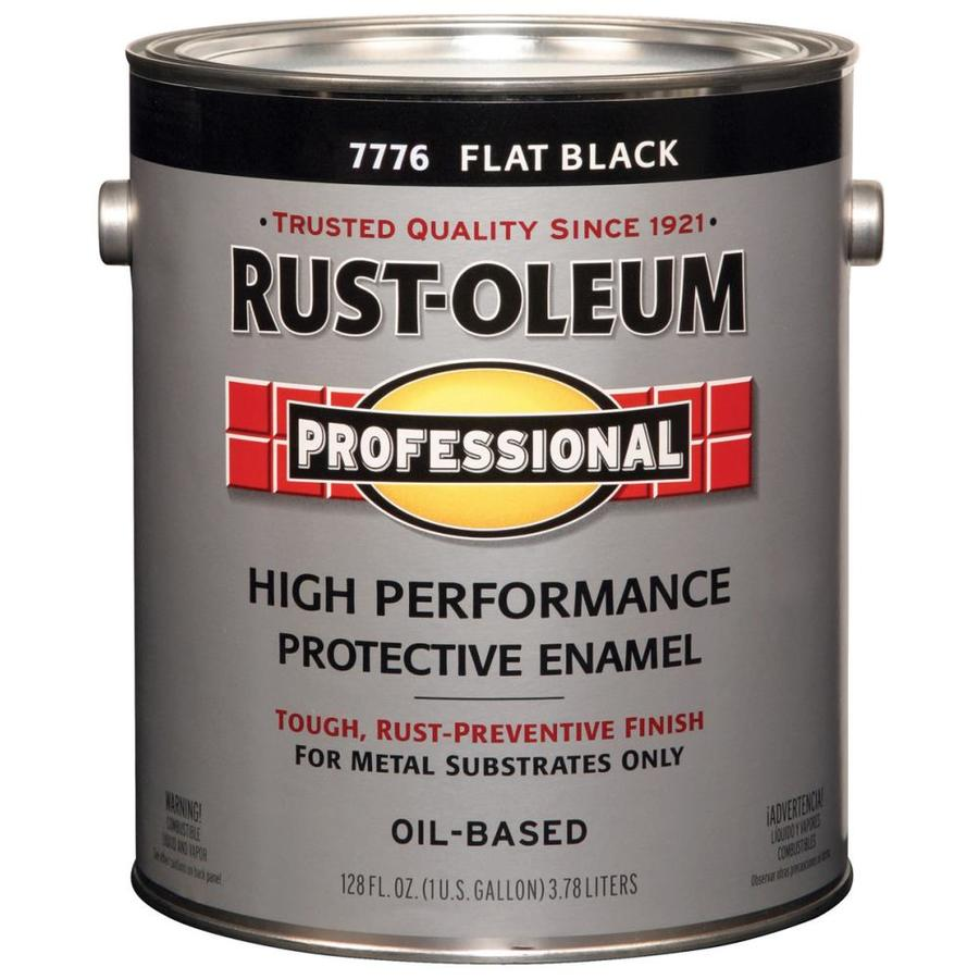 Rust-Oleum Professional Black Flat Oil-based Enamel Interior/Exterior Paint (Actual Net Contents: 128-fl oz)