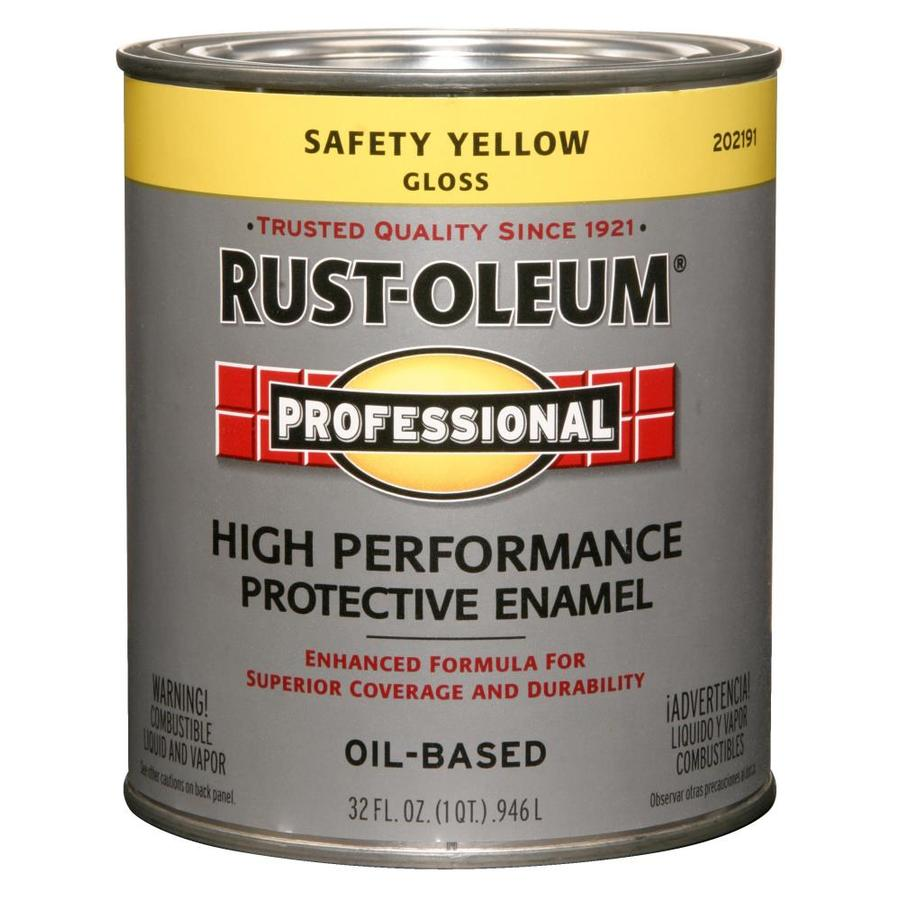 Rust-Oleum Professional Safety Yellow/Gloss Oil-based Enamel Interior/Exterior Paint (Actual Net Contents: 32-fl oz)