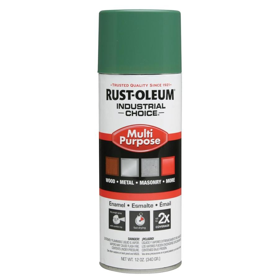 Rust-Oleum Industrial Choice Machine Green Fade Resistant Enamel Spray Paint (Actual Net Contents: 12-oz)