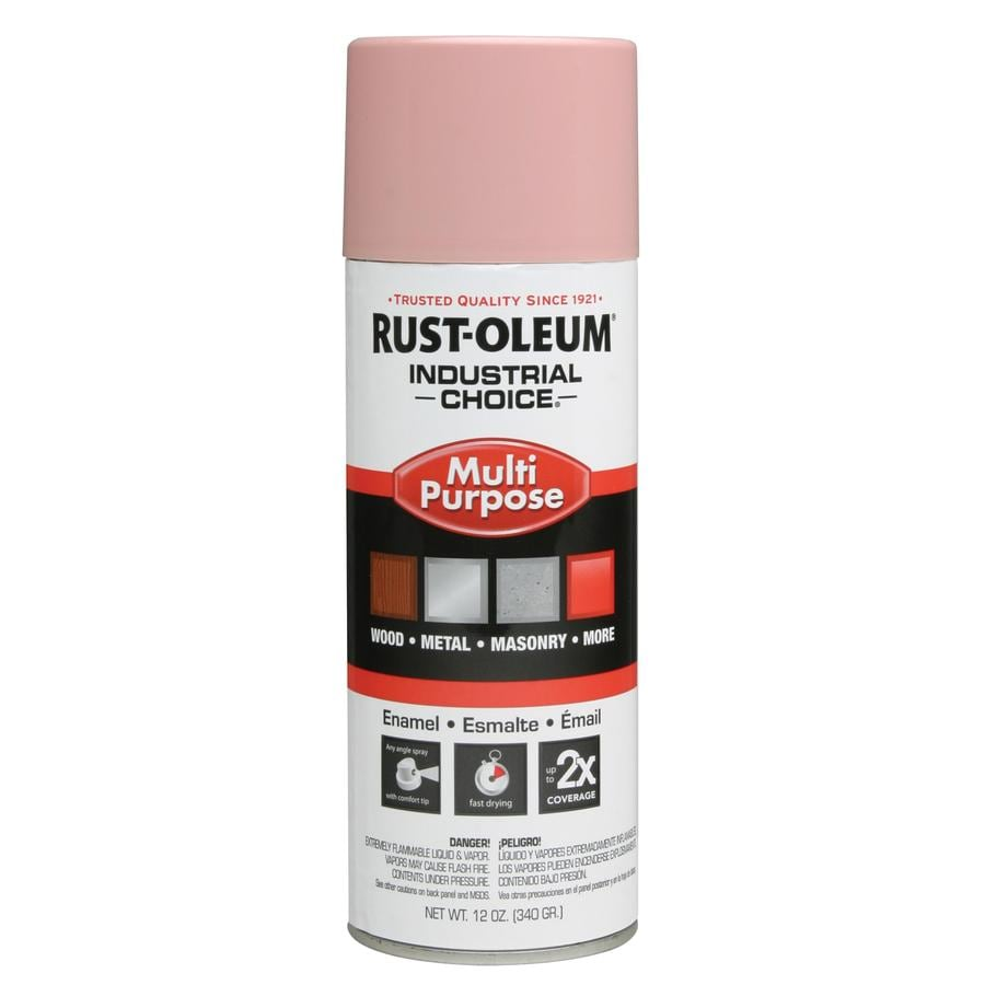 Rust-Oleum Industrial Choice Dusty Pink Fade Resistant Enamel Spray Paint (Actual Net Contents: 12-oz)