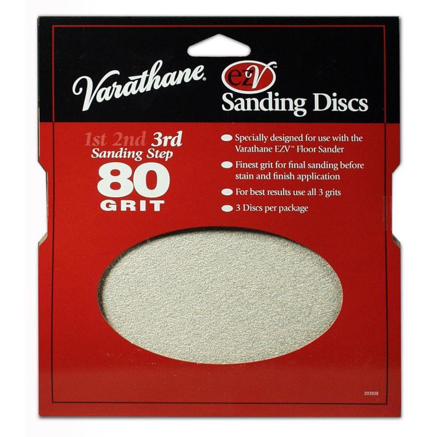 Varathane EZV 3-Pack 0.25-in W x 7.625-in L 80-Grit Commercial Floor Sander Disc Sandpaper