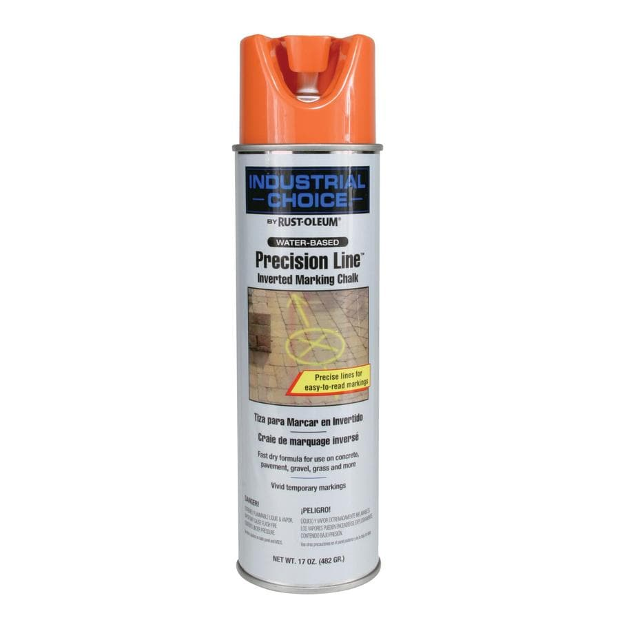 Rust-Oleum Industrial Choice Marking Orange Chalky Fade Resistant Spray Paint (Actual Net Contents: 17-oz)