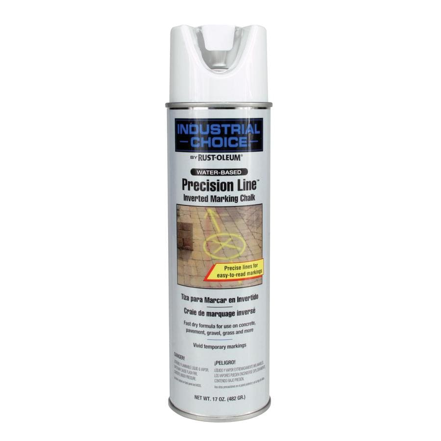 Rust-Oleum Industrial Choice 12-Pack Apwa White Oil-Based Marking Paint (Actual Net Contents: 17-fl oz)