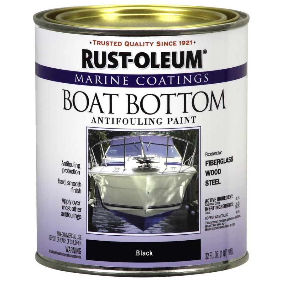 Rust-Oleum Marine Coatings Black Flat Antifouling Enamel Oil-Based Marine Paint (Actual Net Contents: 32-fl oz)