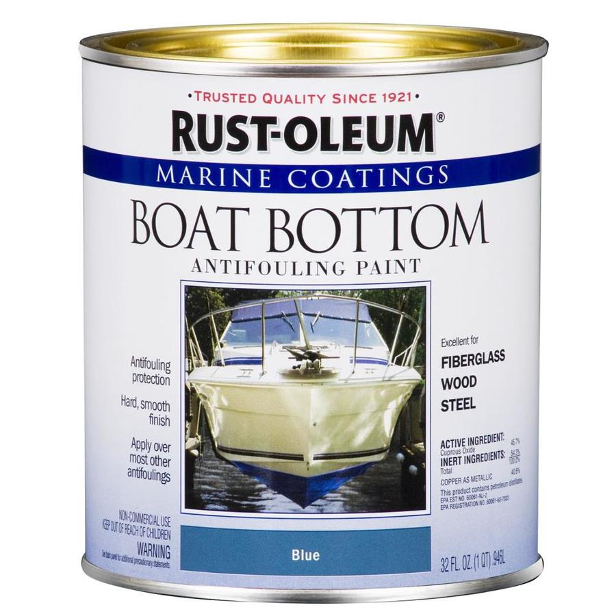 Rust-Oleum Marine Coatings Blue Flat Antifouling Enamel Oil-Based Marine Paint (Actual Net Contents: 32-fl oz)