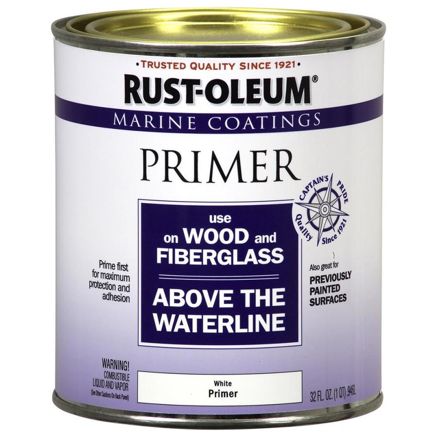 Rust-Oleum Marine Coatings White Flat Enamel Oil-Based Marine Primer (Actual Net Contents: 32-fl oz)