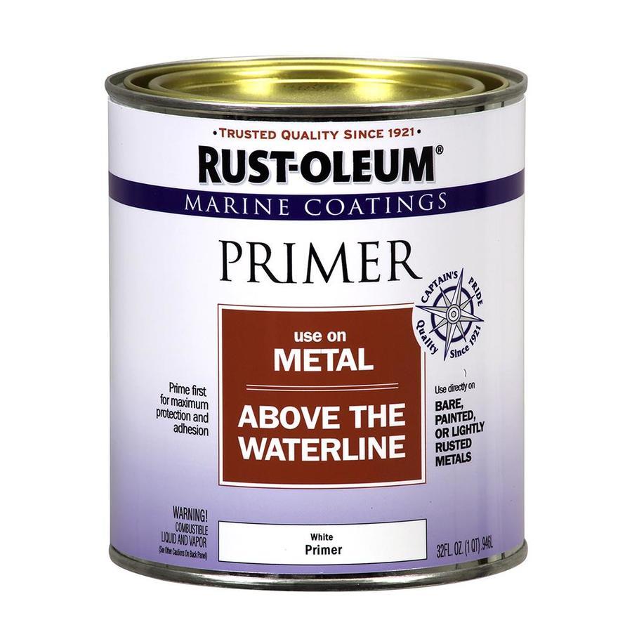 Rust Oleum Marine Coatings White Flat Enamel Oil Based Primer Actual Net Contents 32 Fl Oz