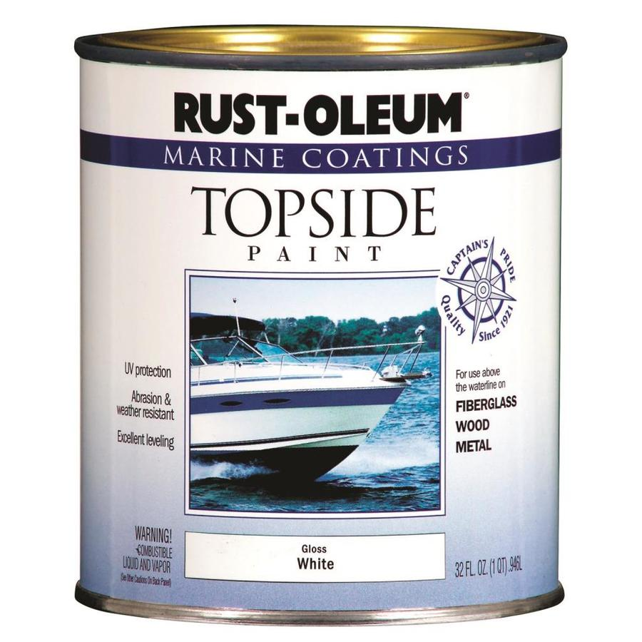 Rust-Oleum Marine Coatings White Gloss Enamel Oil-based Marine Paint (Actual Net Contents: 32-fl oz)